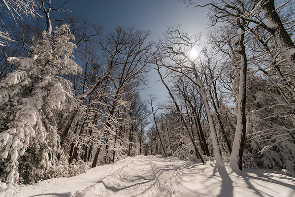 Coopers Rock_Winter_cross country skiing_Moonlight_West Virginia_photo by Gabe DeWitt_March 05, 2015-15