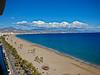 Playa de San Juan, Alicante; Cabezo d'Or; Puig Campana, Benidorm, Spain<br /> A galleon seems to have washed ashore, bottom center.   (Next picture).