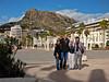 Mel, Peter, Martha, Bob.  Santa Barbara Castle, background.<br /> Plaza, Port of Alicante, Alicante, Spain