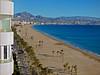 View North-east:  Playa de San Juan, Campello, Cabezo d'Or, Alicante, Spain