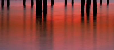 Sunset Piers -orange