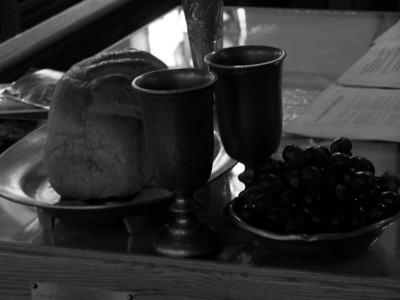 """After taking the cup, he gave thanks and said, 'Take this and divide it among you. For I tell you I will not drink again of the fruit of the vine until the kingdom of God comes.'  And he took bread, gave thanks and broke it, and gave it to them, saying, 'This is my body given for you; do this in rembembrance of me'.""  Luke 22:17-19"