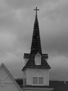"""He has showed you, O man, what is good. And what does the LORD require of you? To act justly and to love mercy and to walk humbly with your God.""  Micah 6:8  Church steeple, Emigrant, Montana"