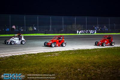 TQ Midgets at Three Palms Speedway 01312015