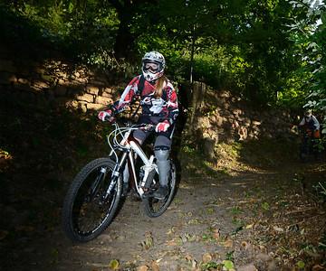 Berni riding downhill near Meran in Italy
