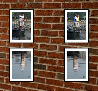 4 photo wall post