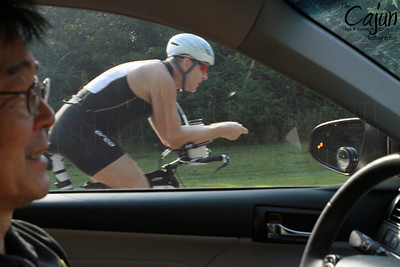 Bike passing in drivers window IMG_1339 Frantic Frog Triathlon