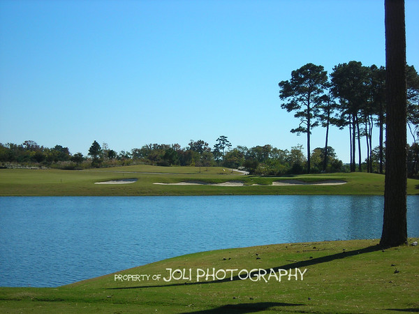 A view of the Nicklaus # 11 green from the tee box at Palmer # 8.