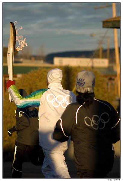 Olympic Torch Relay, Williams Lake, BC<br /> Jan 29th, 2010