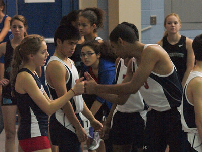 Teammates Before the Race, Indoor Track