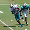 Brandon Marshall, wide receiver, Miami Dolphins Training Camp, Davie, Florida August 2010