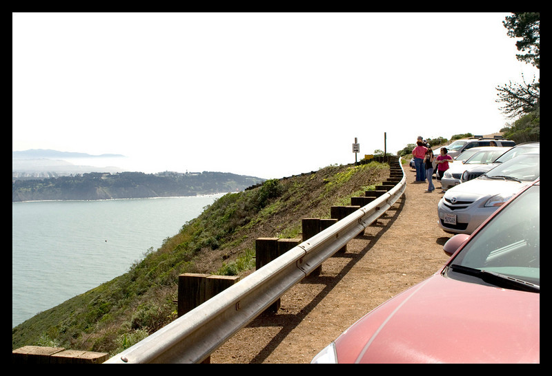 We parked at the furthest vista point we could get to on this road, here.