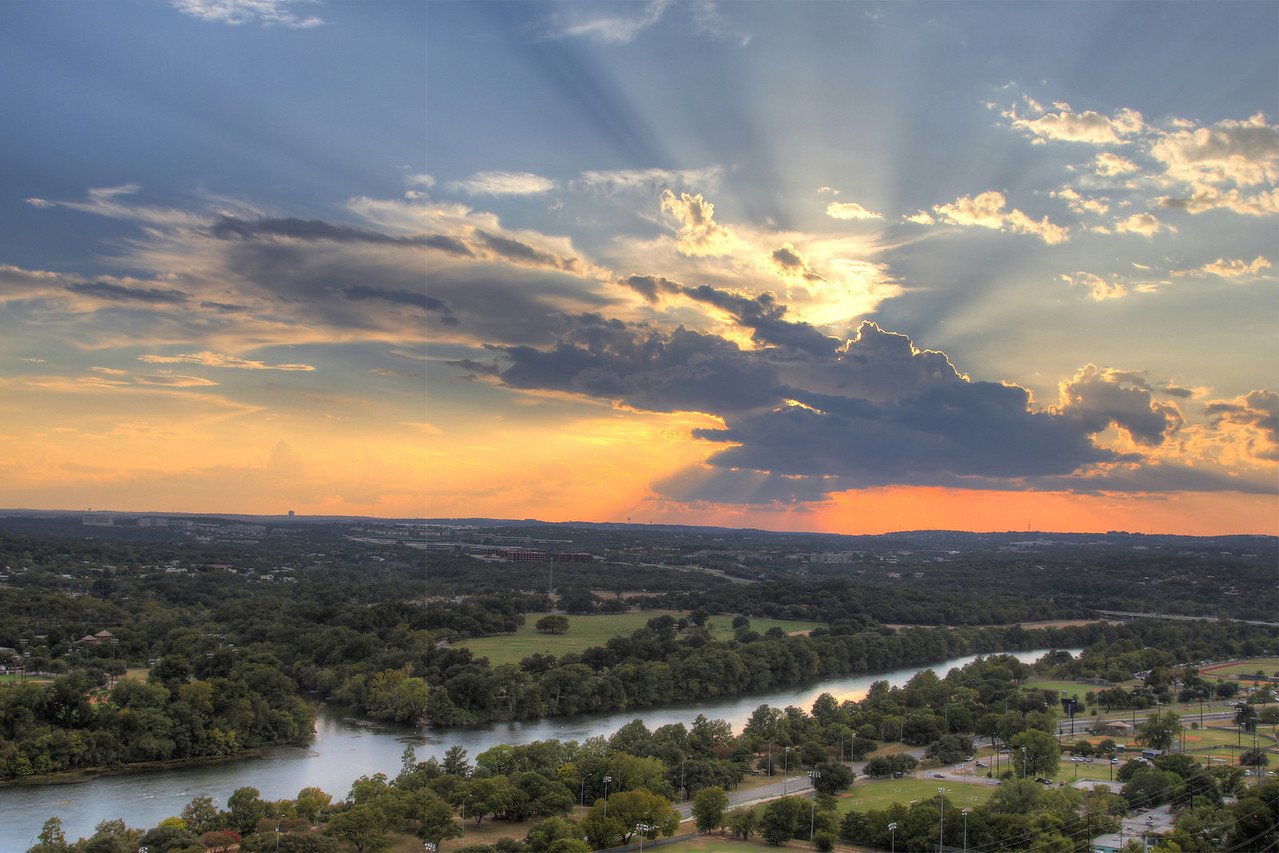 Picture of Zilker park sunset from bedroom balcony