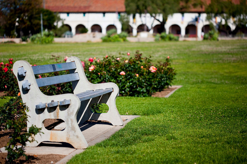 Park Bench, Mission Santa Barbara Rose Garden