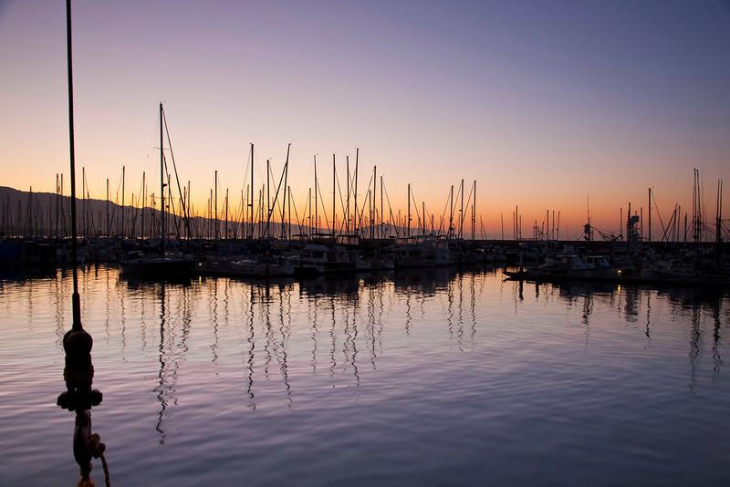Sunrise, Santa Barbara Harbot
