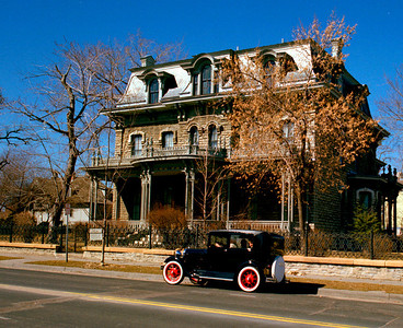 Ramsey House Home of first Minnesota Governor, and Antique Car, St. Paul, Minnesota