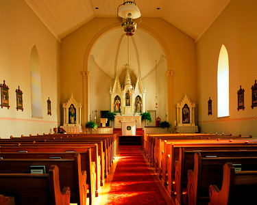 Interior, Historic Catholic Church of St. Peter, Mendota Heights, Minnesota