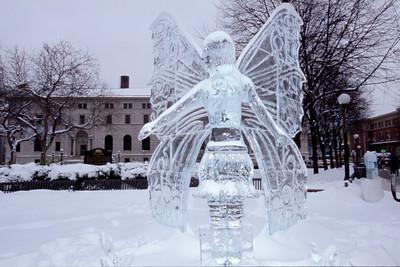 2003 Ice Sculpture, Ice Angel, Rice Park, St. Paul, Minnesota