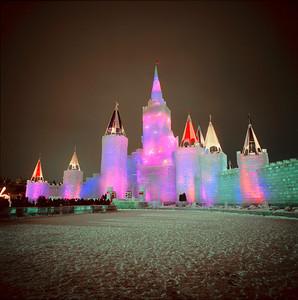 1992 Multi-color Ice Castle, Harriet Island, St. Paul, Minnesota