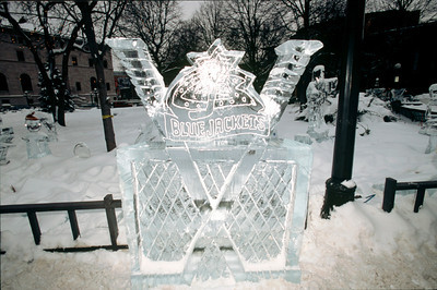 2003 Ice Sculpture, Blue Jackets, Rice Park, St. Paul, Minnesota