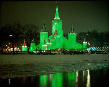 1992 Green Ice Castle, Harriet Island, St. Paul, Minnesota