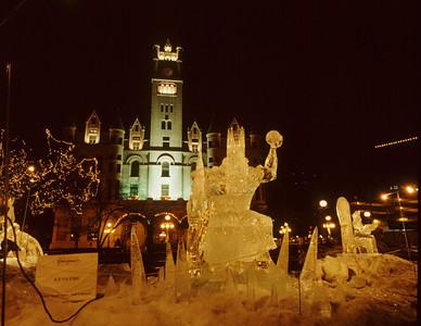 1992 Ice Sculpture Ice King, Rice Park, St. Paul, Minnesota