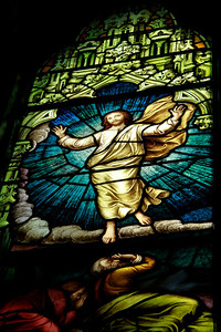 Beautiful stained glass..St.Johns the Baptist church..
