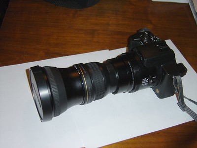 Panasonic FZ20 + Raynox DCR 1540 Pro + Olympus TCON 14B 2.23x X 12x = 26.76 optical or 964mm (35mm equivalent)
