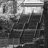 9/2007:  Stairs at Highland Park, Kokomo, IN.  B & W mode used in camera;  duplicate layer created with opacity blend mode @ 50%.