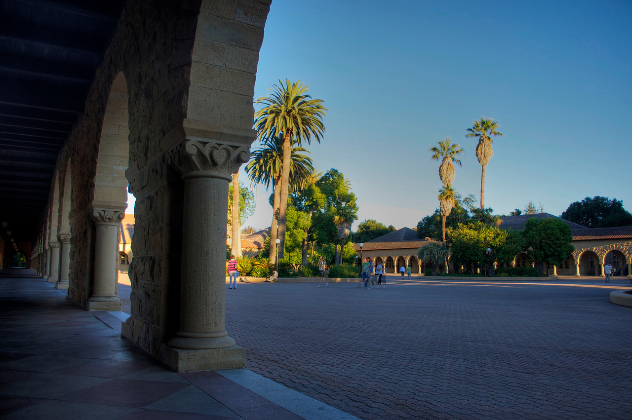 Main Quad at Dusk. Tone Mapped HDR from three exposures.