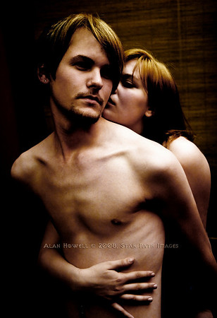 This photo spells desire, does it not? SPI models Andy and Jennie..a cologne ad is born.