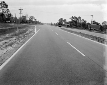 View looking east along Beach Boulevard, past the San Pablo Road intersection, in 1961.