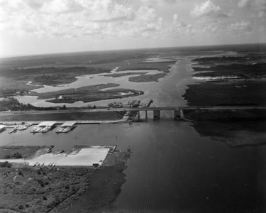An aerial view of the Atlantic Intracoastal Waterway in 1972.