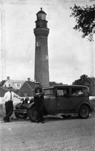 The St. Johns River lighthouse in 1929.