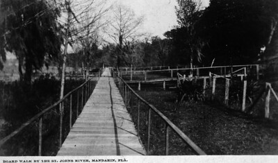 Property owners along the Riverfront took care of that portion of the boardwalk that was on their land. This image was taken during the first decade of the 20th century.