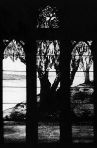 Harriet Beecher Stowe memorial window in 1953.