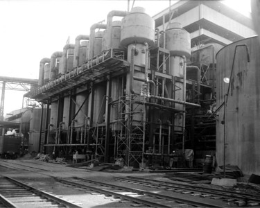 A close-up view of the St. Regis Paper Company plant in 1956.  Today, this facility is Jacksonville's only remaining paper mill plant still in operation.