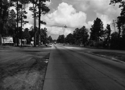 Looking northwest towards the intersection of Dunn Avenue in Disnmore in 1954.