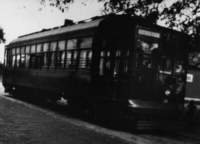 "The streetcar is of the Phoenix Park Line. It was named ""Phoenix"" after the city rose from the ashes of the 1901 fire. This car ran a route via Main Street, from Bay and Main to Walnut, to Phoenix, to Evergreen to Trout River."
