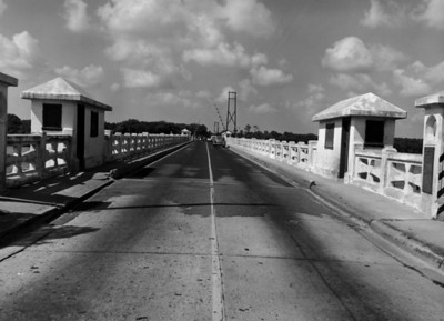 Main Street's Trout Rive Bridge on Sept 13, 1956.  Today, this structure lives on as a fishing pier.