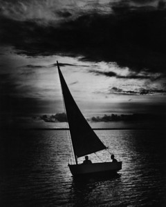 A boat sailing on Ortega Bay in 1946.  Ortega was the lair of the planter/outlaw Daniel McGirtt.  McGirt was a plantation owner, a slaveholder and a fiercely independent Scotsman who, at times, was at odds with or had a price put on his head by the British or Spanish governors of the colony of Florida. He was never captured and kept for long, always talking his way out of any situation, and eventually died in his bed early in the 1800s.