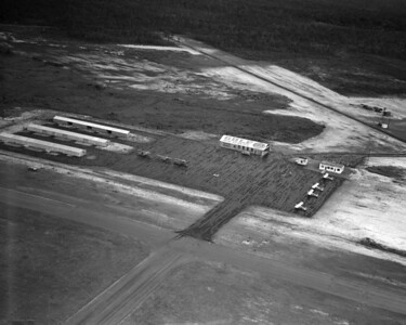 An aerial view of Craig Municipal Airport in 1948.