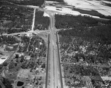 An aerial view of Southside Boulevard, looking north towards Atlantic Boulevard and Arlington Expressway in 1956.