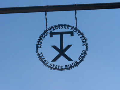 Entrance Emblem, Caprock Canyons, State Park, Quitaque, Texas