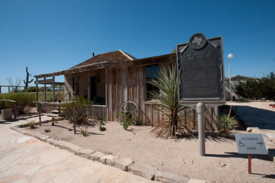 "Judge Roy Bean Monument, ""Law West of the Pecos"",Informational Sign, Langtry, Texas"