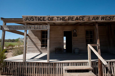 "Judge Roy Bean Monument, ""Law West of the Pecos"", Langtry, Texas"