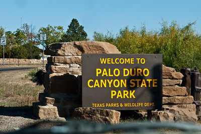 Entrance Sign, Palo Duro  Canyon, Canyon, Texas