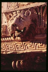 Roman Lion, Baalbeck, Lebanon