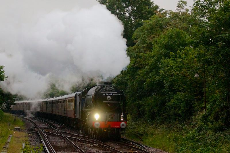Tornado steams through the London rain.