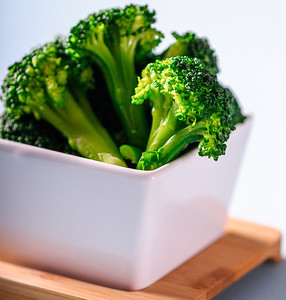 Broccoli in serving dish